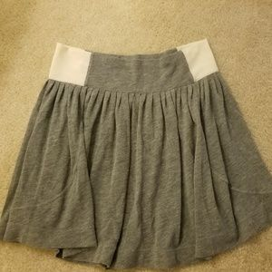 Free people grey skirt with white sides